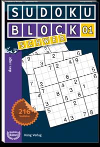 Sudoku Block 01 Schwer
