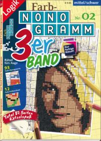 3er-Band Farb-Nonogramm 02