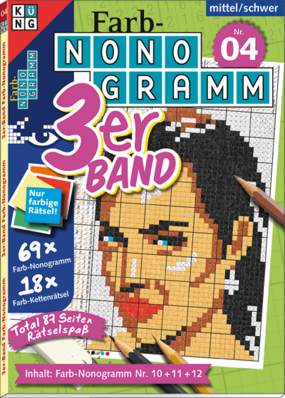 3er-Band Farb-Nonogramm 04