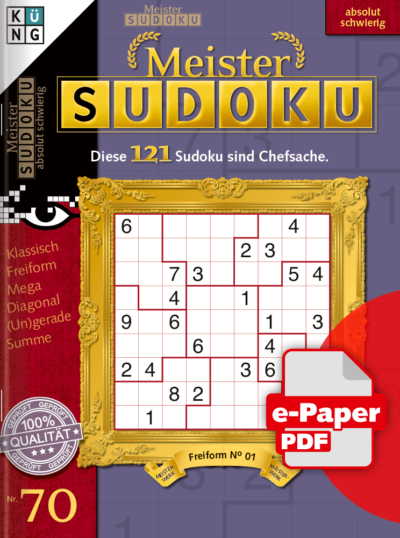 Meister Sudoku 70 e-Paper