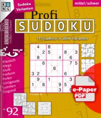 Profi Sudoku 92 e-Paper
